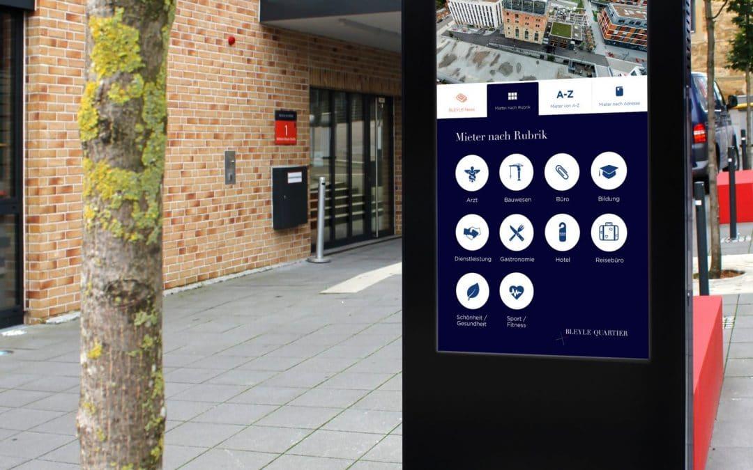 Digitales Leit- und Informationssystem für das Bleyle Quartier in Ludwigsburg