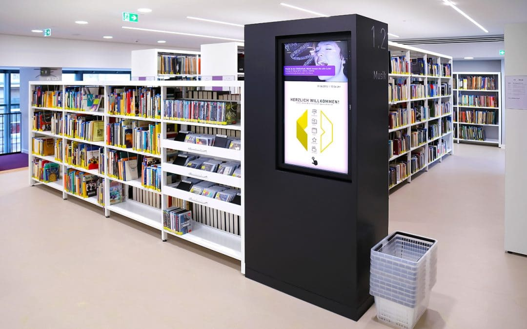 Digital wayfinding for the Ludwigshafen library